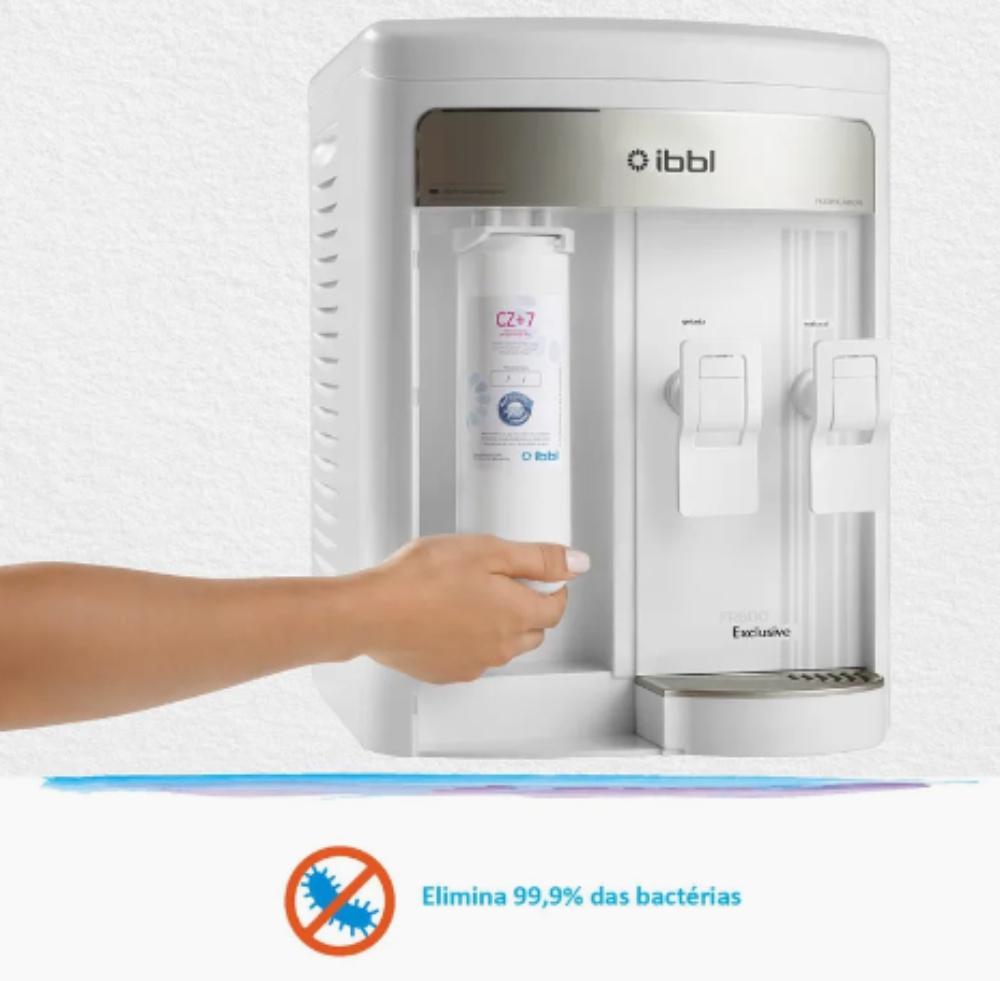 IBBL FR600 Exclusive Branco elimina bactérias